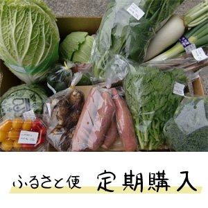 画像1: 【定期コース】ふるさと定期便 新鮮な大山町産の旬野菜や果物、加工品を箱いっぱいに詰めました。